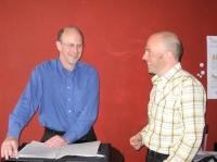 Joachim Niemeier und Markus Siepmann im Gespraech