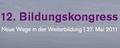 12. Bildungskongress der KnowHow! AG - Neue Wege in der Weiterbildung