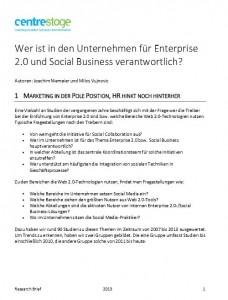 Wer sind die Treiber für Enterprise 2.0 und Social Business